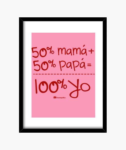 Cuadro 100 yo (en Rojo)
