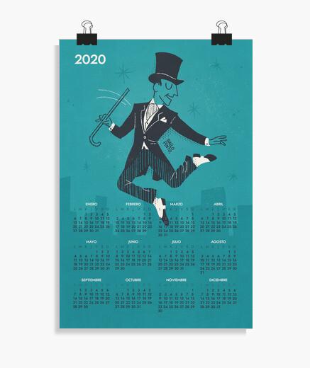 Poster 2020 fred ast air e calendario