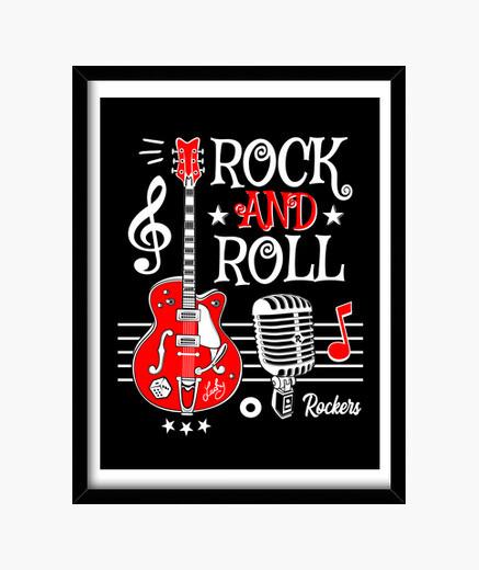 rock guitarra rock and roll micrófono vintage rockabilly music rocker
