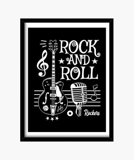rock guitarra rockabilly music micrófono rocker rock and roll 1950s 60s 70s