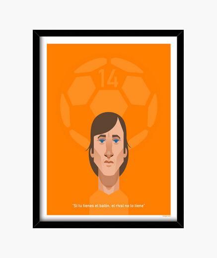 Cadre affiche cruyff