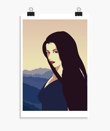 Poster affiche filles rétro vintage art women