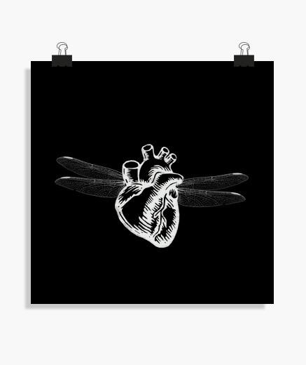 Poster ailé coeur