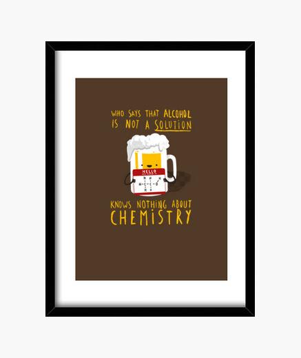 Alcool solution print framed print