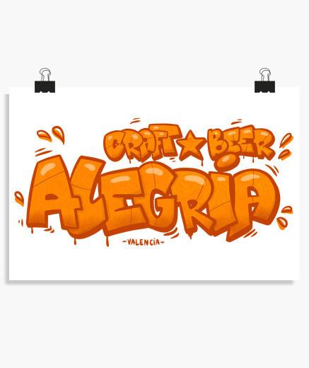 Póster Alegria graffiti