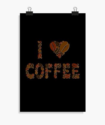 Póster Amo el café