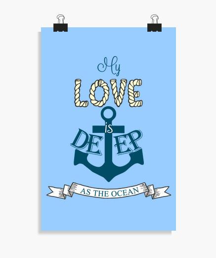 Póster Amor marinero