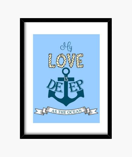 Cuadro Amor marinero