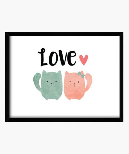 Quadro amore cats