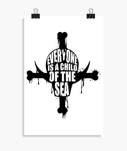 Poster anime di pirata di Barbabianca