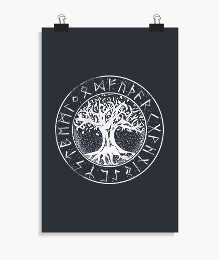 Poster Arbre viking