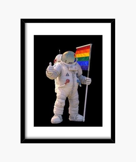 Cuadro astronauta lgtb iphone 5