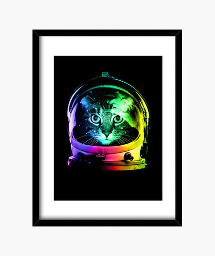 Cadre astronaute chat