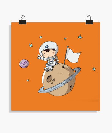 Poster astronaute enfant