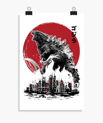 Poster attack gojira