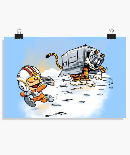 Poster attaque des déambulateurs de neige