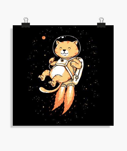 Póster aventurero espacial