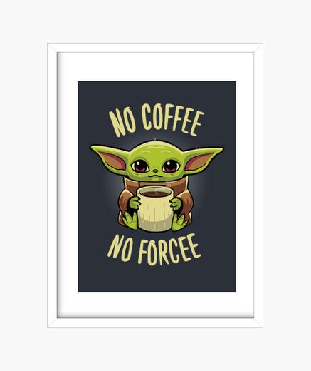 Cuadro Baby yoda coffee