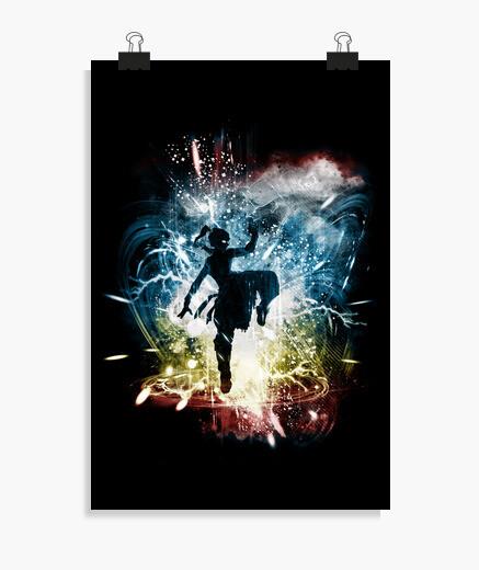 Poster ballando con elementi