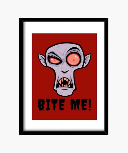 Cadre bande dessinée vampire effrayant avec m