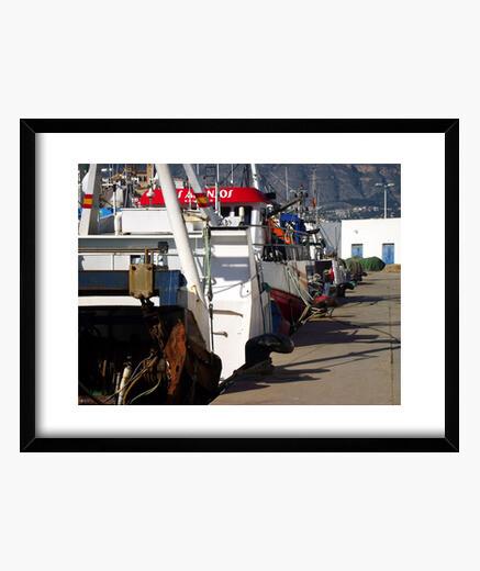 Cuadro Barcos pesqueros en el puerto de Altea