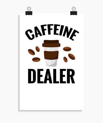 Póster barista regalo cafetera coffebar...
