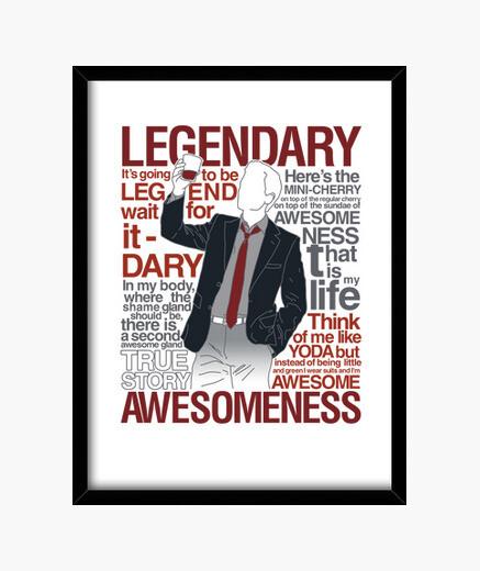 Quadro barney stinson - leggendaria maglietta of aw