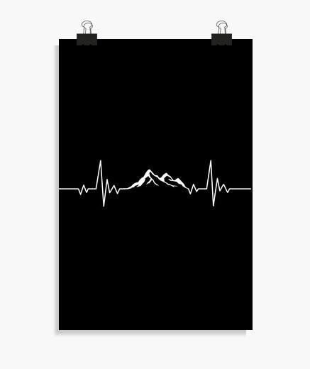 Poster battement de coeur de montagne...