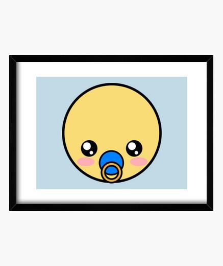 Quadro bebè bambino emoticon