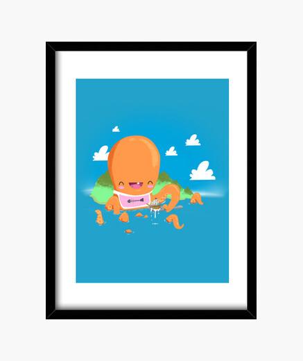Quadro bebè kraken