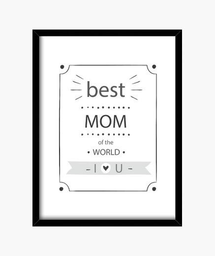 Cuadro Best mom black