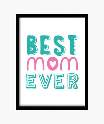Cuadro Best mom ever