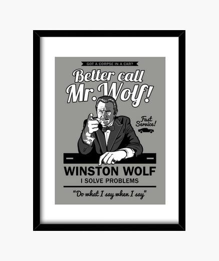 Better call mr. wolf framed print