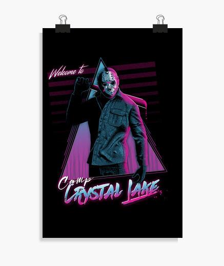 Poster bienvenue au camp du lac de crystal
