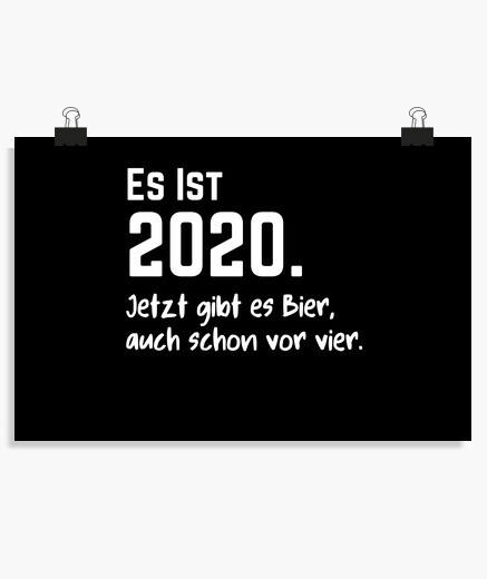 Póster bier vor vier 2020 corona