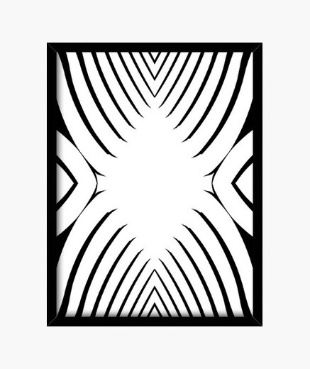 black and white, abstract design, modern box with vertical frame 3 ...