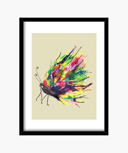 Black Cocoon framed print