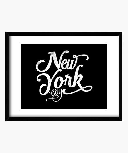 Cuadro blanco vintage new york city
