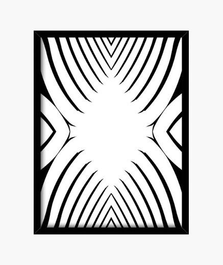 Blanco y Negro, diseño abstracto y...