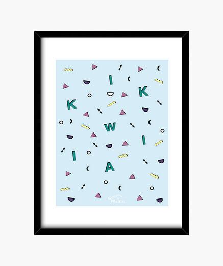 Blue geometric (t-shirts) framed print