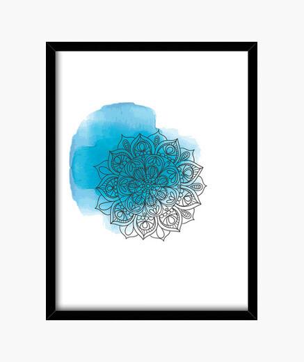 Cuadro Blue mandala