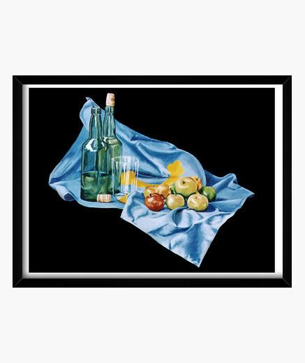 Bodegón astur - Cuadro enmarcado con cristal