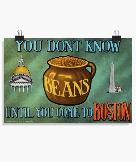 Póster Boston Beans poster