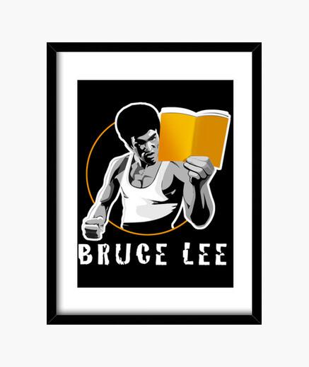 Cuadro Bruce lee un libro
