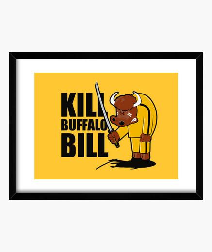 Buffalo kill bill framed print