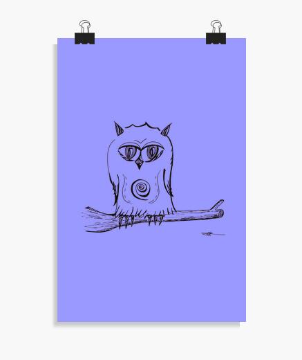Póster búho posado - cartel
