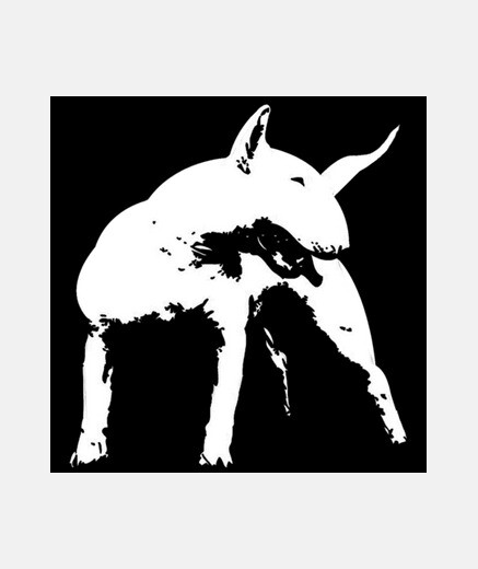 Camiseta Bull terrier estilo pop art