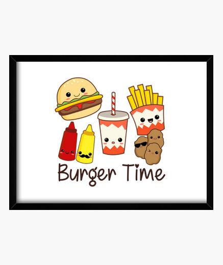 Cuadro Burger Time