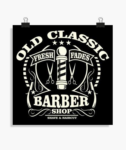 Poster c vecchio le negozio di barbirra sic
