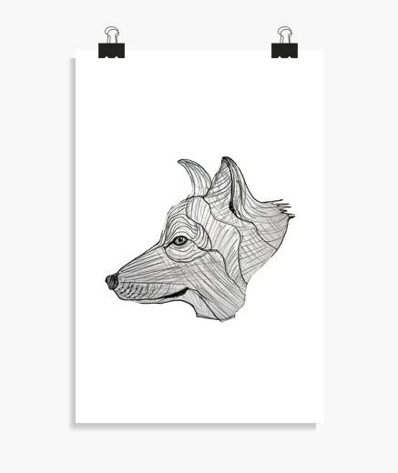 Póster Cabeza de perro